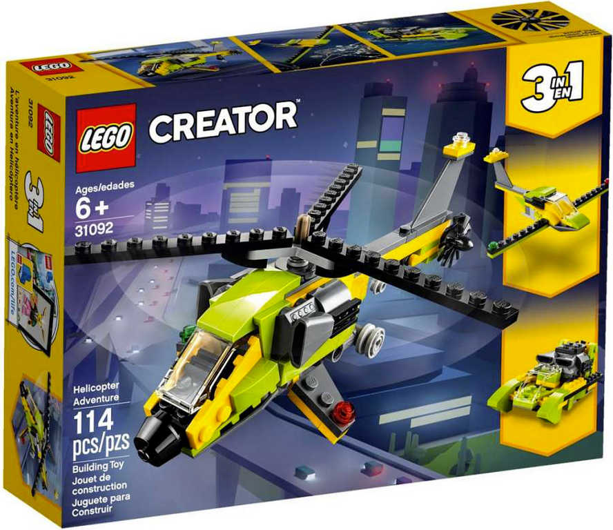 LEGO CREATOR Dobrodružství s helikoptérou 31092