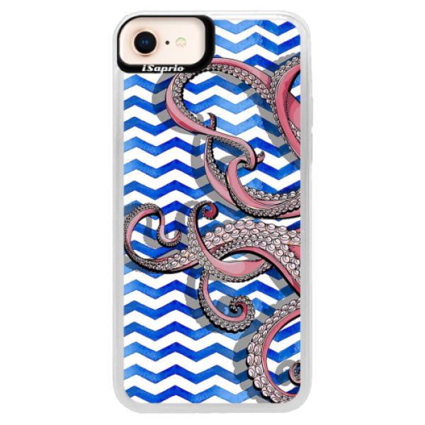 Neonové pouzdro Pink iSaprio - Octopus - iPhone 8