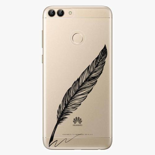 Silikonové pouzdro iSaprio - Writing By Feather - black - Huawei P Smart