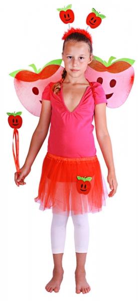 Karnevalový kostým jablko s křídly