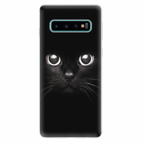 Silikonové pouzdro iSaprio - Black Cat - Samsung Galaxy S10