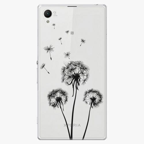 Plastový kryt iSaprio - Three Dandelions - black - Sony Xperia Z1 Compact