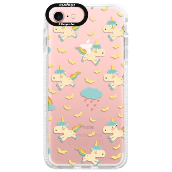 Silikonové pouzdro Bumper iSaprio - Unicorn pattern 01 - iPhone 7