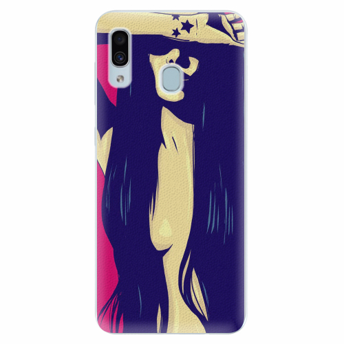 Silikonové pouzdro iSaprio - Cartoon Girl - Samsung Galaxy A30