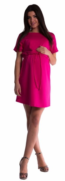 Be MaaMaa Těhotenské šaty s vázáním - amarant