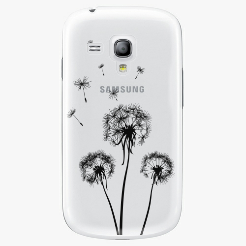Plastový kryt iSaprio - Three Dandelions - black - Samsung Galaxy S3 Mini