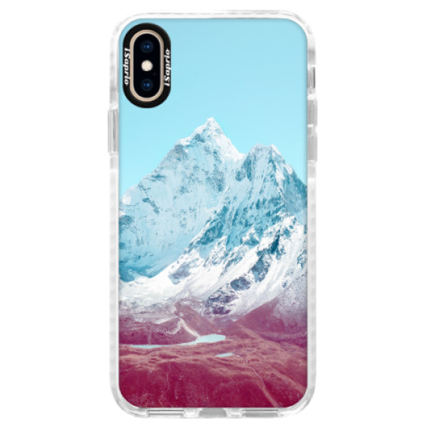 Silikonové pouzdro Bumper iSaprio - Highest Mountains 01 - iPhone XS