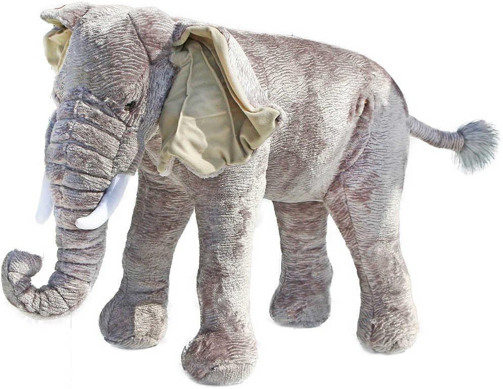 PLYŠ Slon stojící 75cm na sezení *PLYŠOVÉ HRAČKY*
