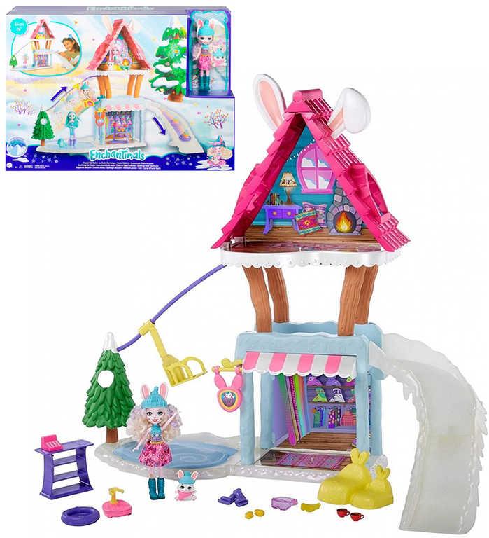 MATTEL Enchantimals horská chata herní set panenka s doplňky plast