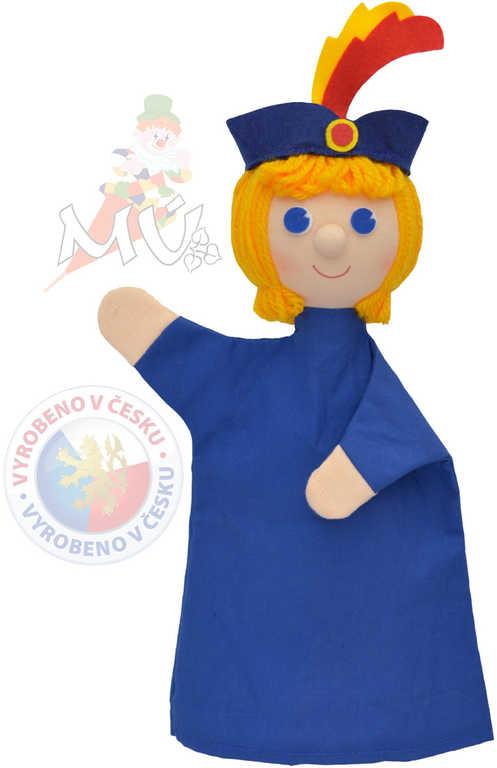 MORAVSKÁ ÚSTŘEDNA Maňásek modrý Princ Vendelín