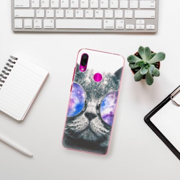 Plastové pouzdro iSaprio - Galaxy Cat - Xiaomi Redmi Note 7
