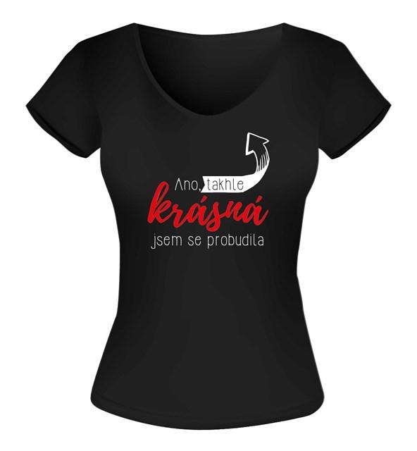 Humorná trička - Dámské tričko - Krásná, vel. M
