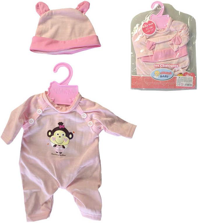 Oblečení pro panenku miminko 42cm set dupačky s čepičkou a ramínkem