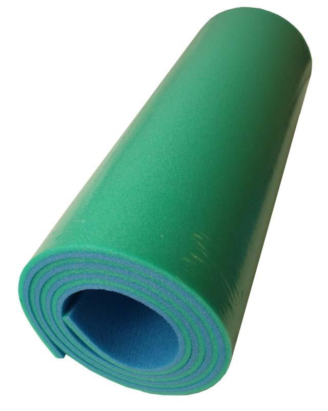 ACRA Karimatka pěnová dvouvrstvá soft modrozelená 185 x 50 x 1 cm