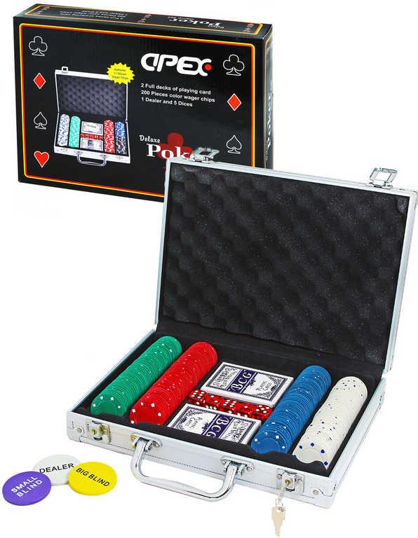 Hra Poker dětská deluxe 200 žetonů v kufříku *SPOLEČENSKÉ HRY*