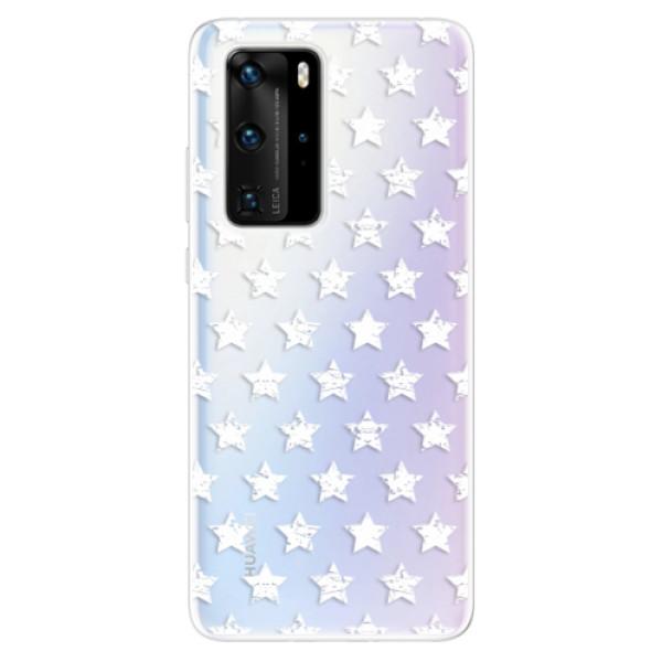 Odolné silikonové pouzdro iSaprio - Stars Pattern - white - Huawei P40 Pro