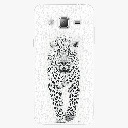 Plastový kryt iSaprio - White Jaguar - Samsung Galaxy J3 2016