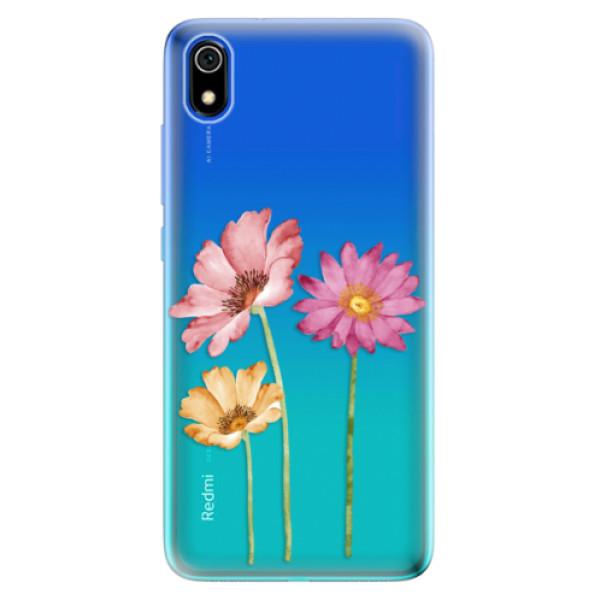 Odolné silikonové pouzdro iSaprio - Three Flowers - Xiaomi Redmi 7A