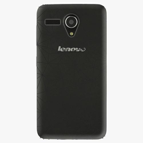 Plastový kryt iSaprio - Abstract Triangles 03 - black - Lenovo A606