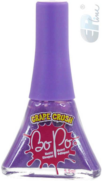 EP Line BO-PO Lak na nehty fialový slupovací 5,5ml s vůní hroznové víno pro holčičky
