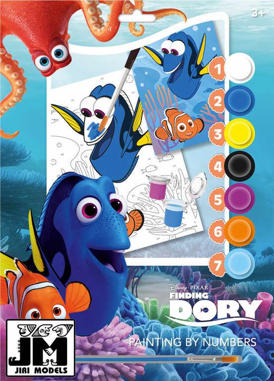 JIRI MODELS Malování podle čísel A4 Hledá se Dory set s barvičkami