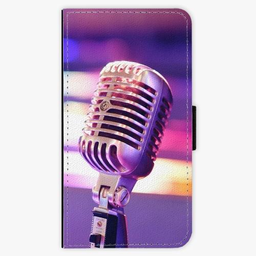 Flipové pouzdro iSaprio - Vintage Microphone - Samsung Galaxy A3
