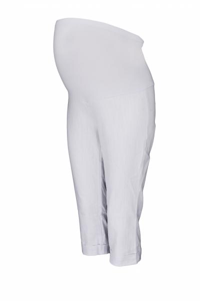 be-maamaa-tehotenske-3-4-kalhoty-s-elastickym-pasem-bile-vel-m-m-38