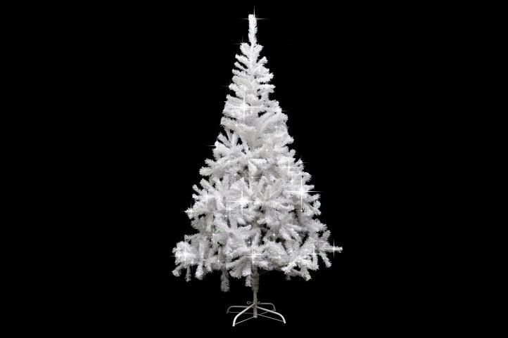 Umělý vánoční strom s třpytivým efektem - 180 cm, bílý