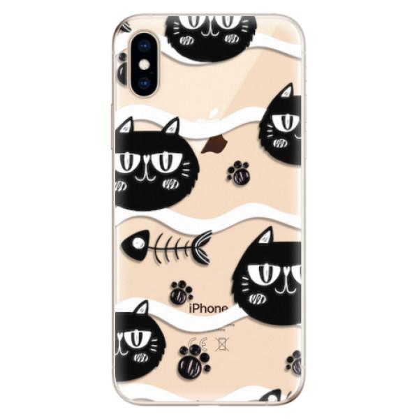 Odolné silikonové pouzdro iSaprio - Cat pattern 04 - iPhone XS