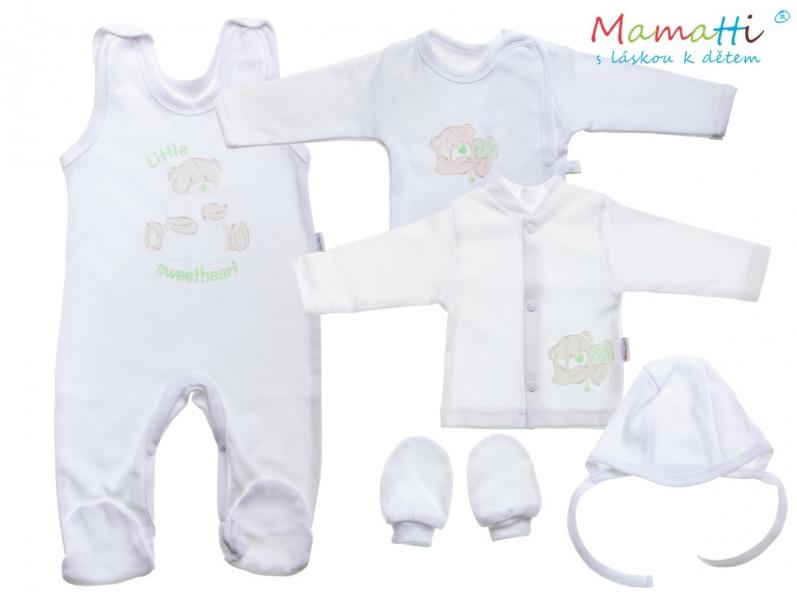 Mamatti Soupravička do porodnice v krabičce Medvídek Sweetheart, bílá,vel. 62 - 62 (2-3m)