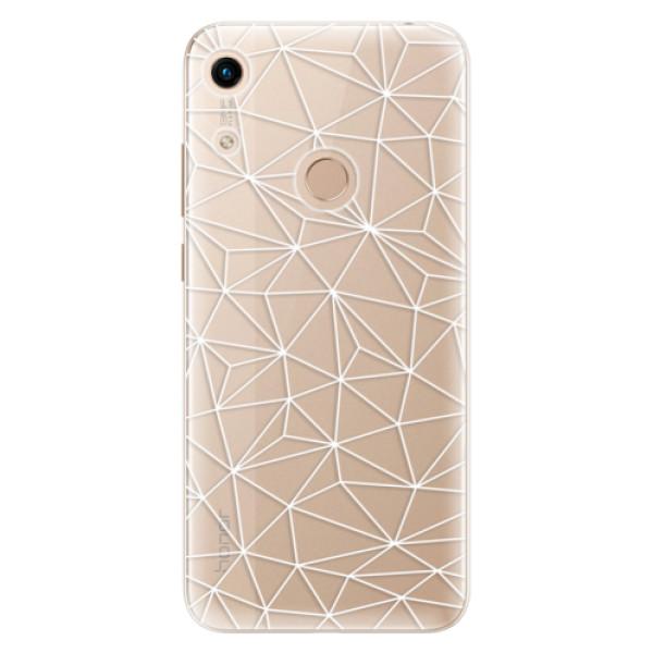 Odolné silikonové pouzdro iSaprio - Abstract Triangles 03 - white - Huawei Honor 8A
