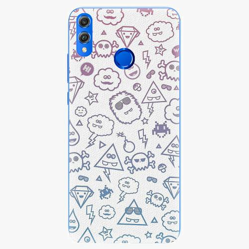 Silikonové pouzdro iSaprio - Funny Clouds - Huawei Honor 8X