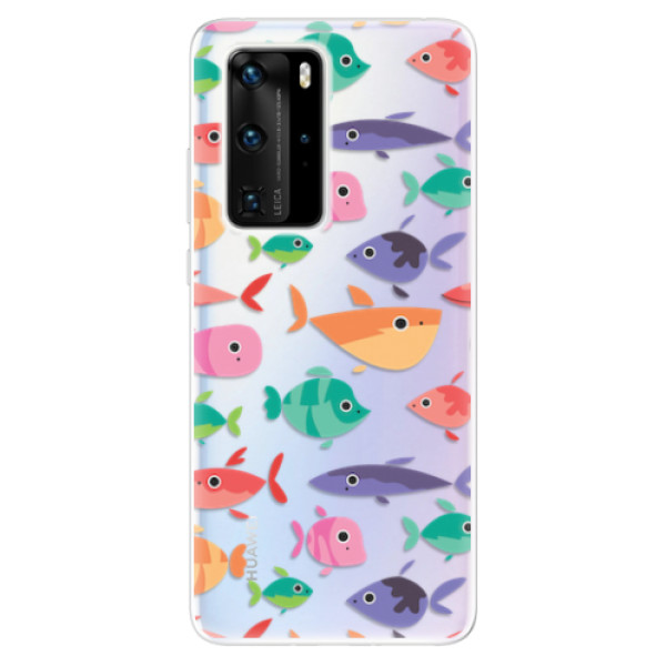 Odolné silikonové pouzdro iSaprio - Fish pattern 01 - Huawei P40 Pro
