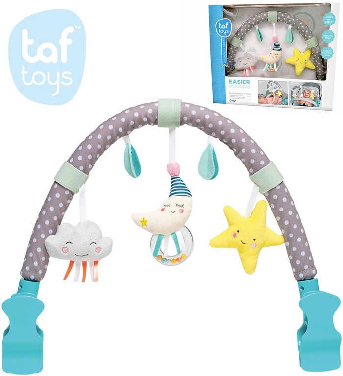 TAF TOYS Baby Hrazdička měsíček s chrastícími hračkami pro miminko