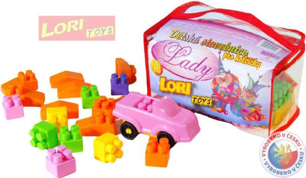 LORI 018 Stavebnice Lady 42 dílů