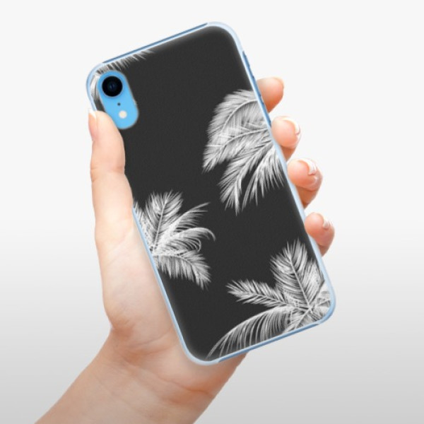 Plastové pouzdro iSaprio - White Palm - iPhone XR