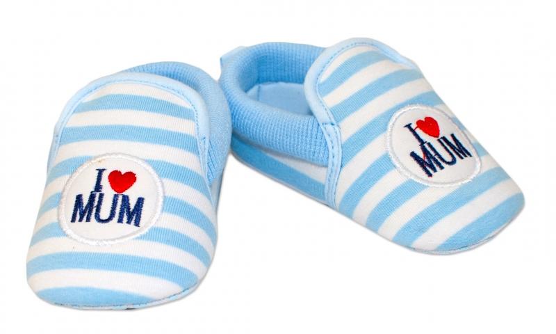 YO ! Kojenecké boty/capáčky I love Mum