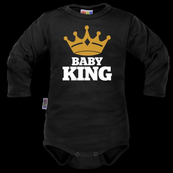 body-dlouhy-rukav-dejna-baby-king-cerne-vel-74-74-6-9m
