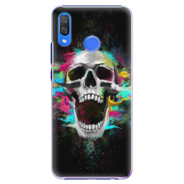 Plastové pouzdro iSaprio - Skull in Colors - Huawei Y9 2019