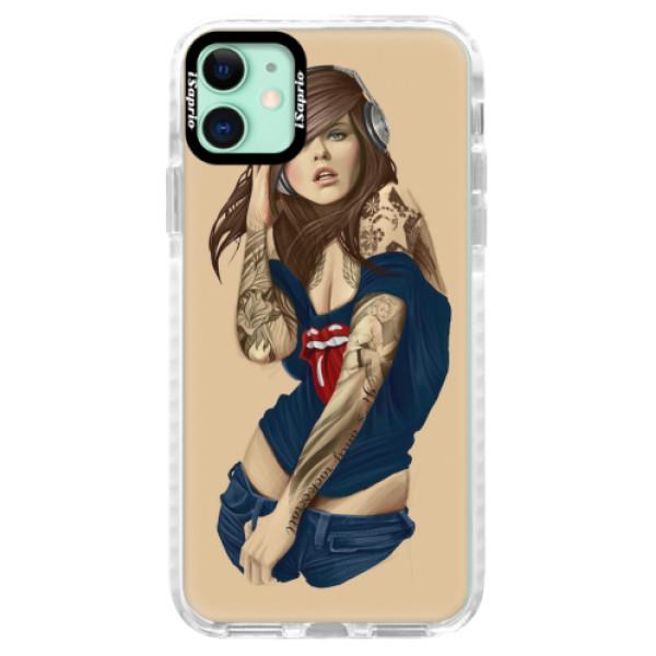 Silikonové pouzdro Bumper iSaprio - Girl 03 - iPhone 11