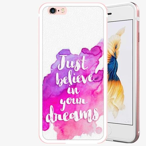 Plastový kryt iSaprio - Believe - iPhone 6 Plus/6S Plus - Rose Gold