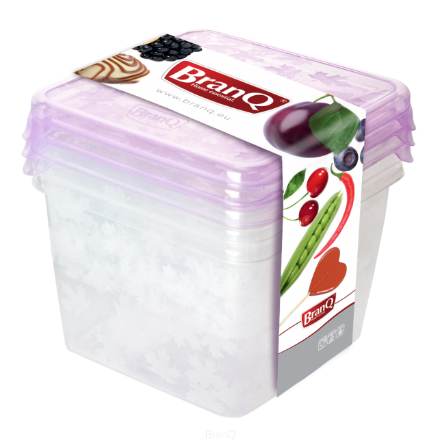 Dózy na potraviny Rukkola 3ks - čtverec