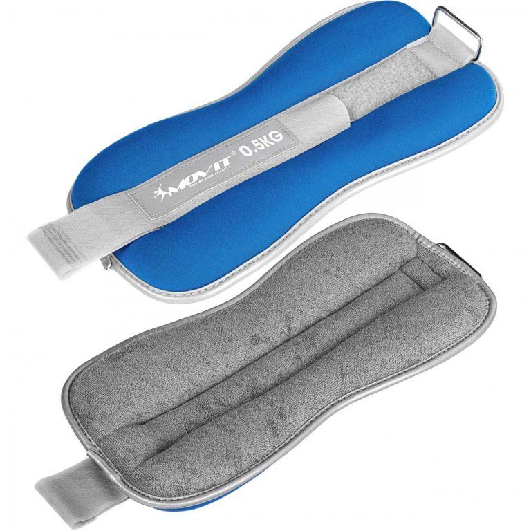 Modré zátěžové froté manžety - 2 x 0,5 kg + 2 x 1 kg