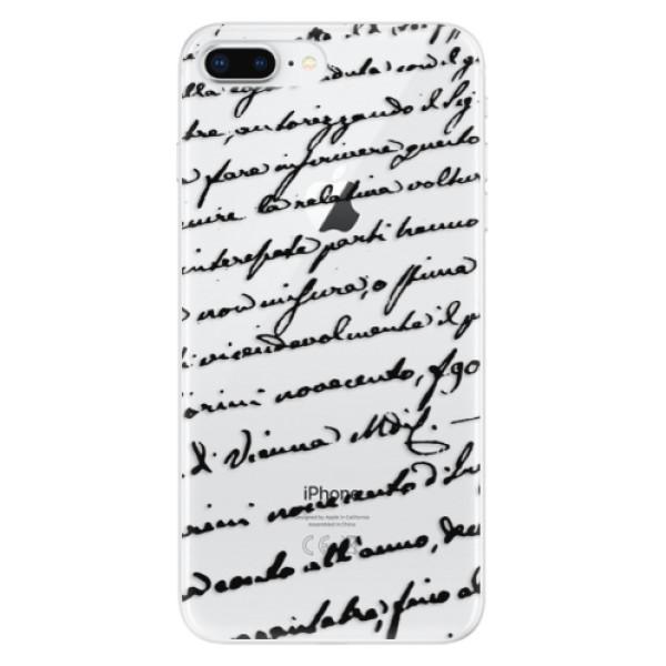 Odolné silikonové pouzdro iSaprio - Handwriting 01 - black - iPhone 8 Plus