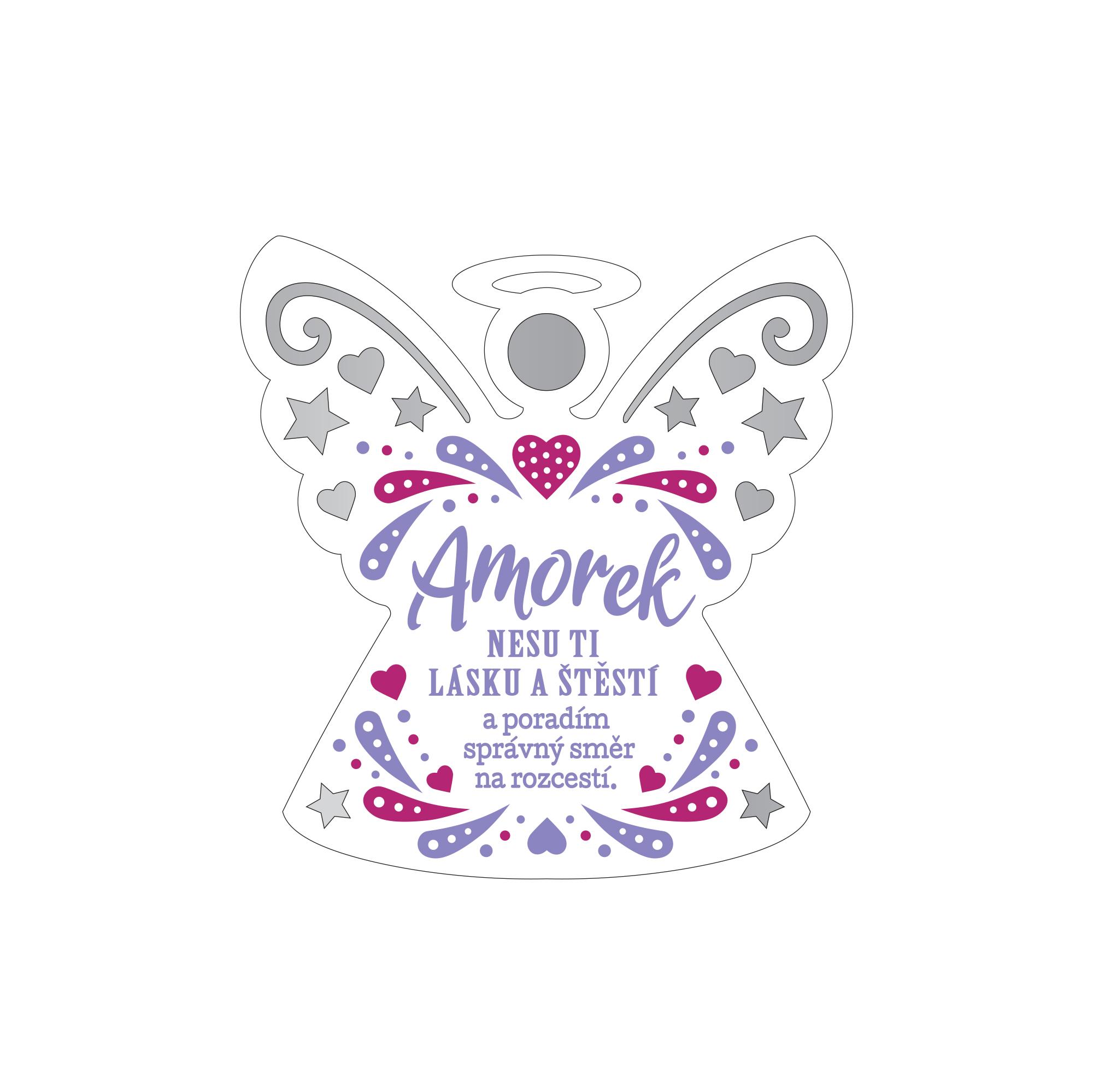 Plaketka anděl - Amorek