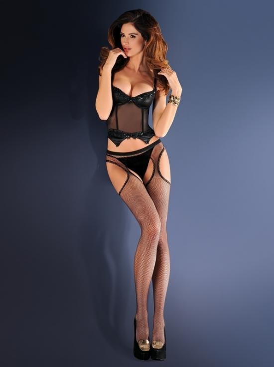 Punčochové kalhoty Erotica strip panty 151 - Gabriella - Černá/1-2