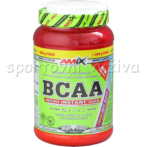 BCAA Micro Instant Juice 800g+200g - free-lemon-lime