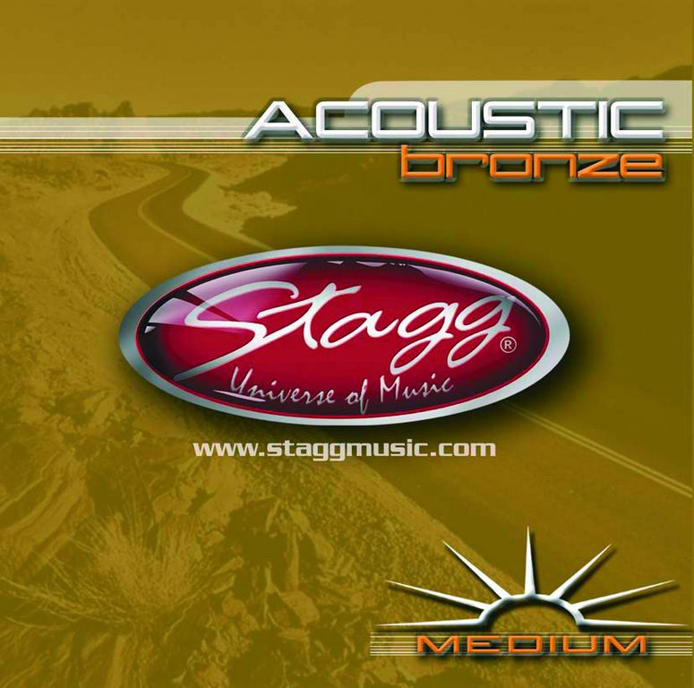 Stagg AC-1356-BR, sada strun