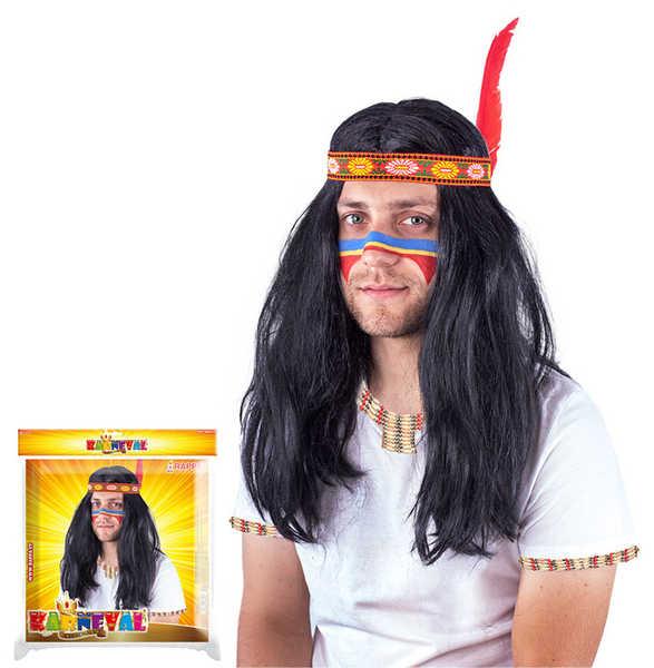 KARNEVAL Paruka indiánská pánská