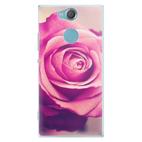 Plastové pouzdro iSaprio - Pink Rose - Sony Xperia XA2